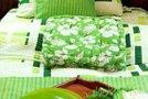 Zelena, spomladanska posteljnina