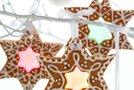 Božični okraski piškoti s sladkornim steklom