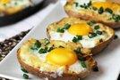 Dvakrat pečen krompir z jajcem