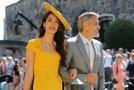 Zakonca Amal in George Clooney blestela na kraljevi poroki