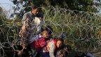 Sirski begunci na madžarski meji