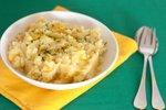 Krompirjev pire z zeleno in koriandrom