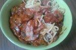 Špageti v zelenjavni omaki