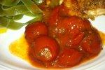 Hrustljava parmezanka s češnjevimi paradižniki