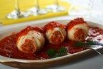 Polnjeni lignji s paradižnikovo omako