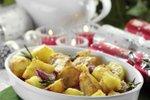 Pečen krompir s česnom in rožmarinom
