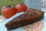 Karamelna kakijeva tortica