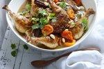 Piščanec po maroško z marelicami in mandlji