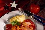 Račje prsi z omako iz granatnega jabolka