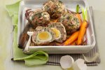 Jagnječje kroglice s prepeličjimi jajci