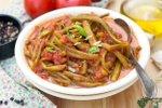 Stročji fižol v paradižnikovi omaki