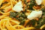 Špageti s špinačo