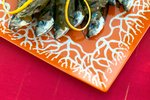 Sardele v trtnih listih na žaru