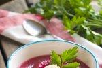 Kremna juha iz rdeče pese in krompirja