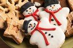 Snežaki z belo glazuro
