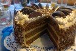 Bananina torta z naribano čokolado