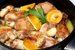 Piščančje kračice s pomarančo in česnom