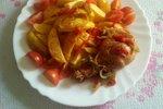 Ocvrt krompir s piščancem