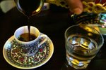 turška, kava, džezva, voda, kozarec, skodelica, kavarna
