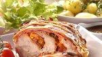 V slanino ovita svinjska pečenka