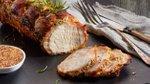 Pečena svinjska ribica z gorčico