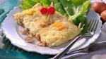 Pečena jajca s sirom in gobicami