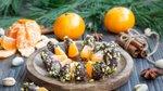 Mandarine s čokolado in pistacijami