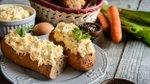 Skutni namaz z zelenjavo in trdo kuhanimi jajci