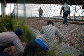 begunci v mestu Calais