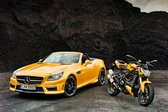 Najmoneji SLK 55 AMG in ducati streetfighter 848 - 2