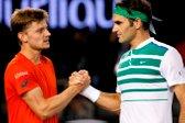 Roger Federer in David Goffin