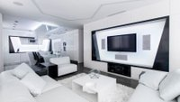 Črna, bela, stanovanje, luksuz