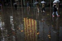 FOTO in VIDEO: Na ulicah Barcelone skoraj pol milijona zagovornikov neodvisnosti Katalonije
