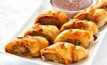 Ruladice s piščancem, suhimi paradižniki in sirom