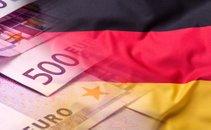 Nemška zastava in evri