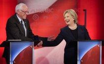 Hilary Clinton in Bernard Sanders