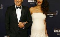 George in Amal Clooney na podelitvi cezarjev - 2