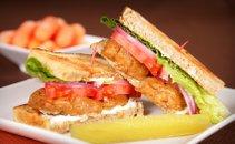 Popečen sendvič s seitanom