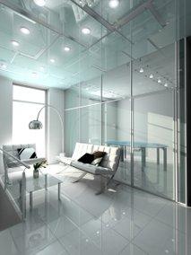 Steklen notranji interier