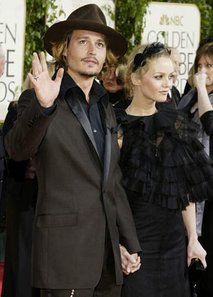 Johnny Depp in Vanessa Paradis