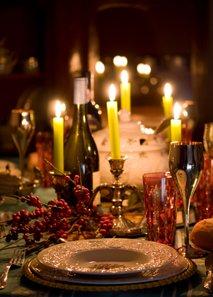 Božična dekoracija mize