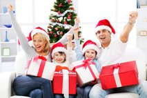 Družina ob božiču