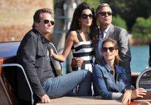 George, Amal, Cindy in Rande