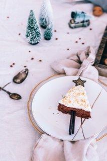 Kostanjeva božična drevesca s čokolado
