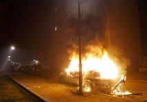 Zažgan avtomobil