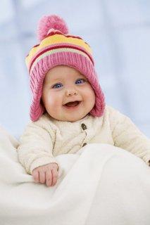 Dojenček v zimskih oblačilih