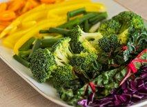 Zelenjava na krožniku