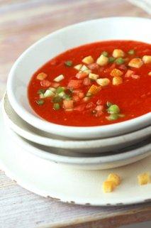 Gazpacho s paradižnikovo omako