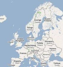 Zemljevid Evrope