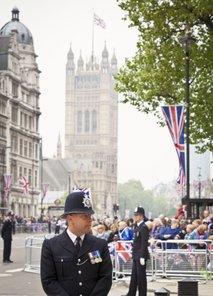 Policisti v Londonu